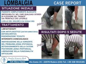 case report lombalgia